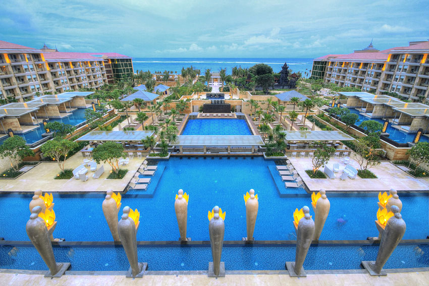 The Mulia Resort and Spa spans 30 hectares in Nusa Dua.