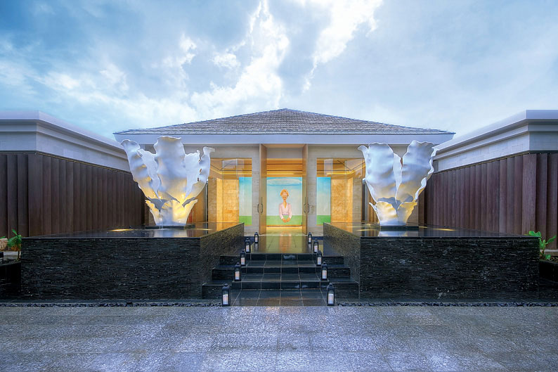 The entrance of the Mulia Spa.
