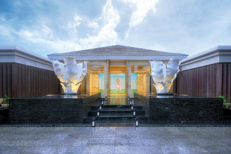 The entrance of the Mulia Spa.