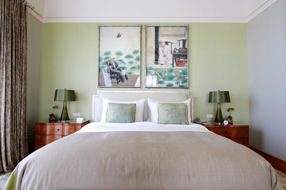 The Mulia Villa bedroom.
