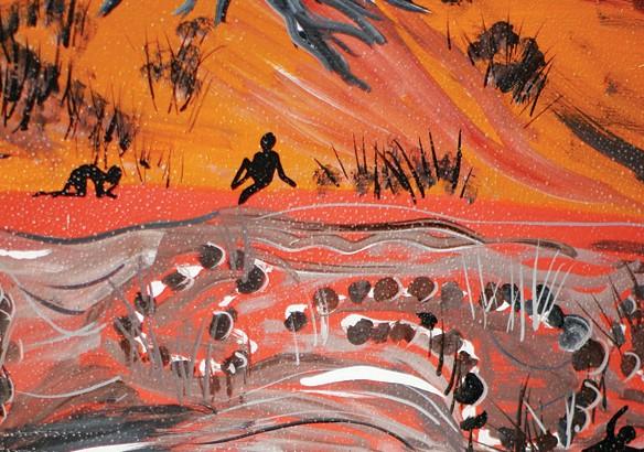 Barwon River's Aboriginal Fish Traps Mural