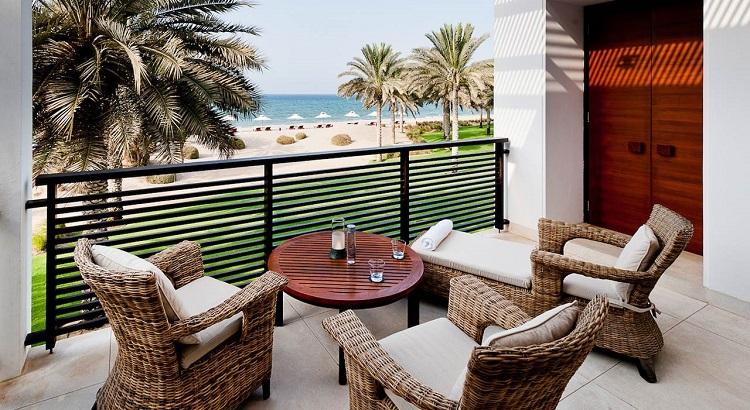 The Chedi Club Suite terrace.