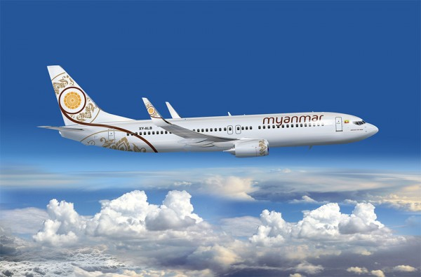 Myanmar National Airlines' new Boeing 737 aircraft began flying in June.