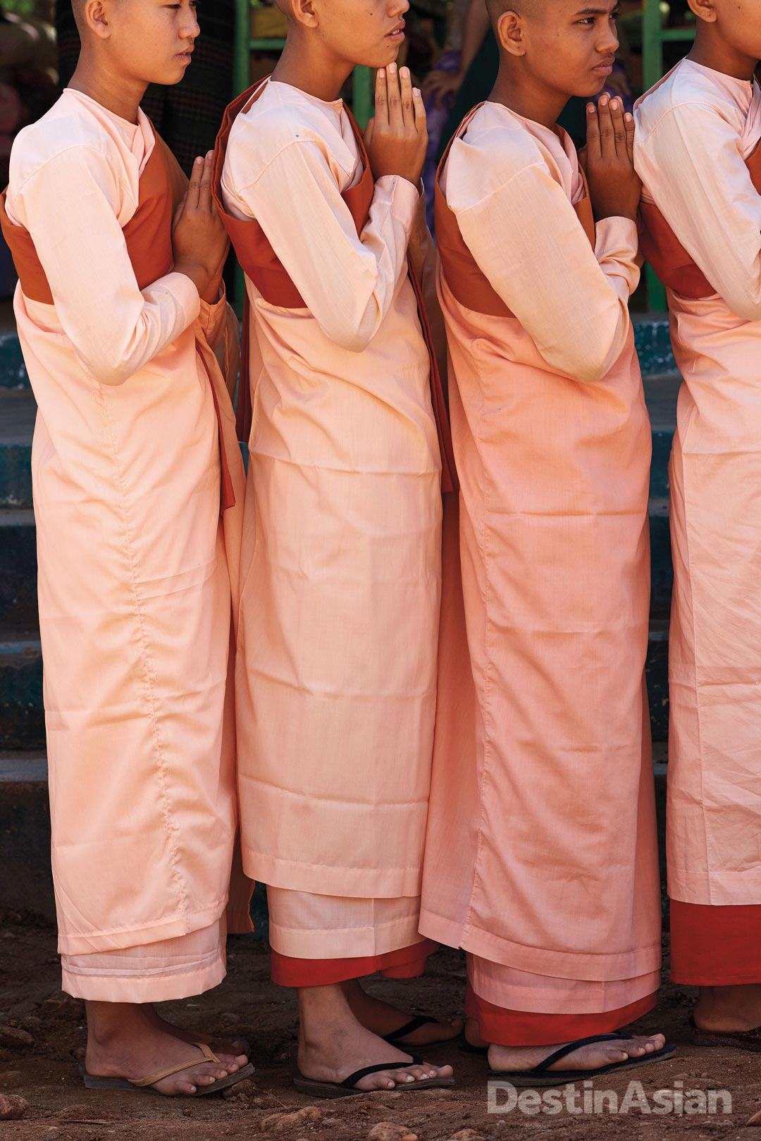 Young nuns at a monastic school in Magwe.