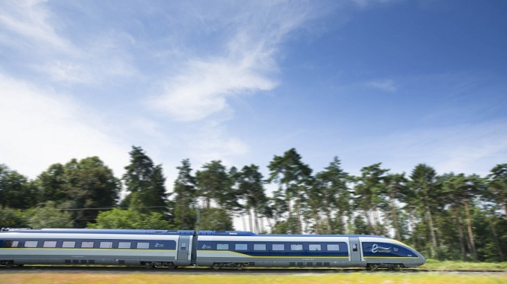 Exteriors of the trains now feature bands of silver in addition to Eurostar's signature colors of yellow and blue.
