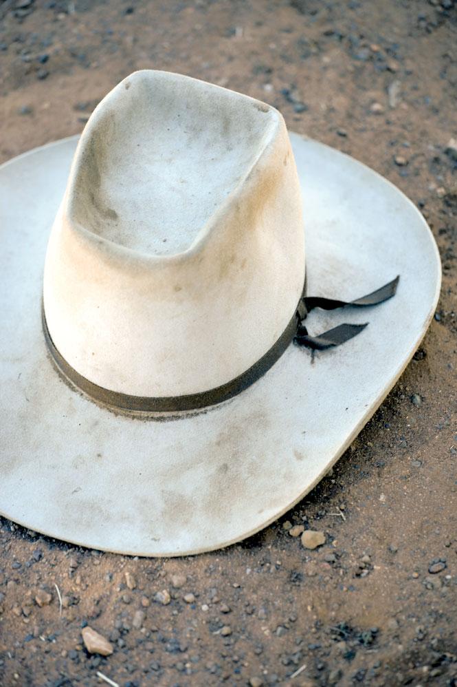 Essential outback fashion.