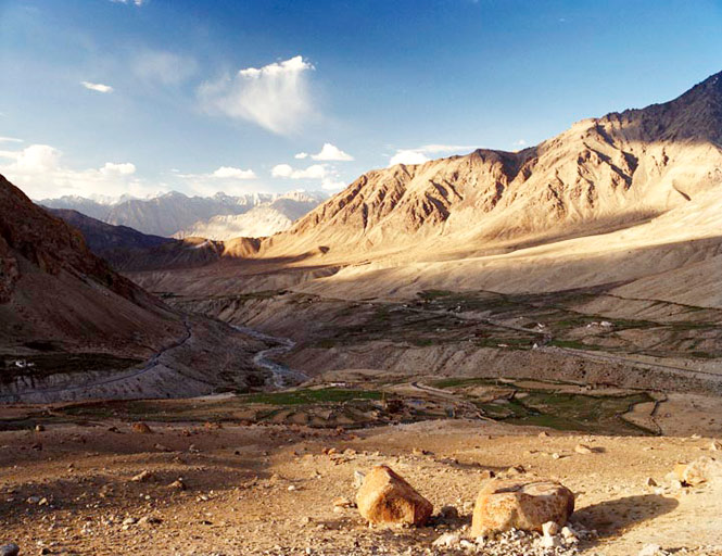 A view across the southern end of the Nubra Valley.