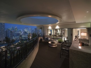 Gaze upon city sights from the balcony of a speciality suite.