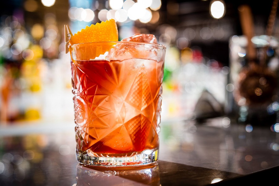 The 30,000ft cocktail, NY-LON's take on the classic Old Fashioned.