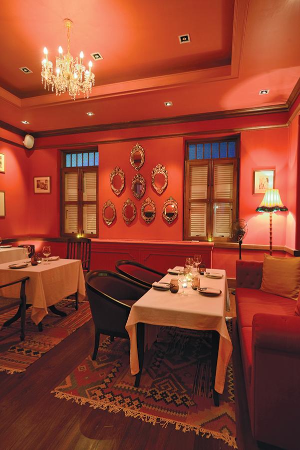 Namsaah's upper-floor dining room.