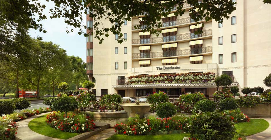 An exterior view of Dorchester Collection's landmark London property.