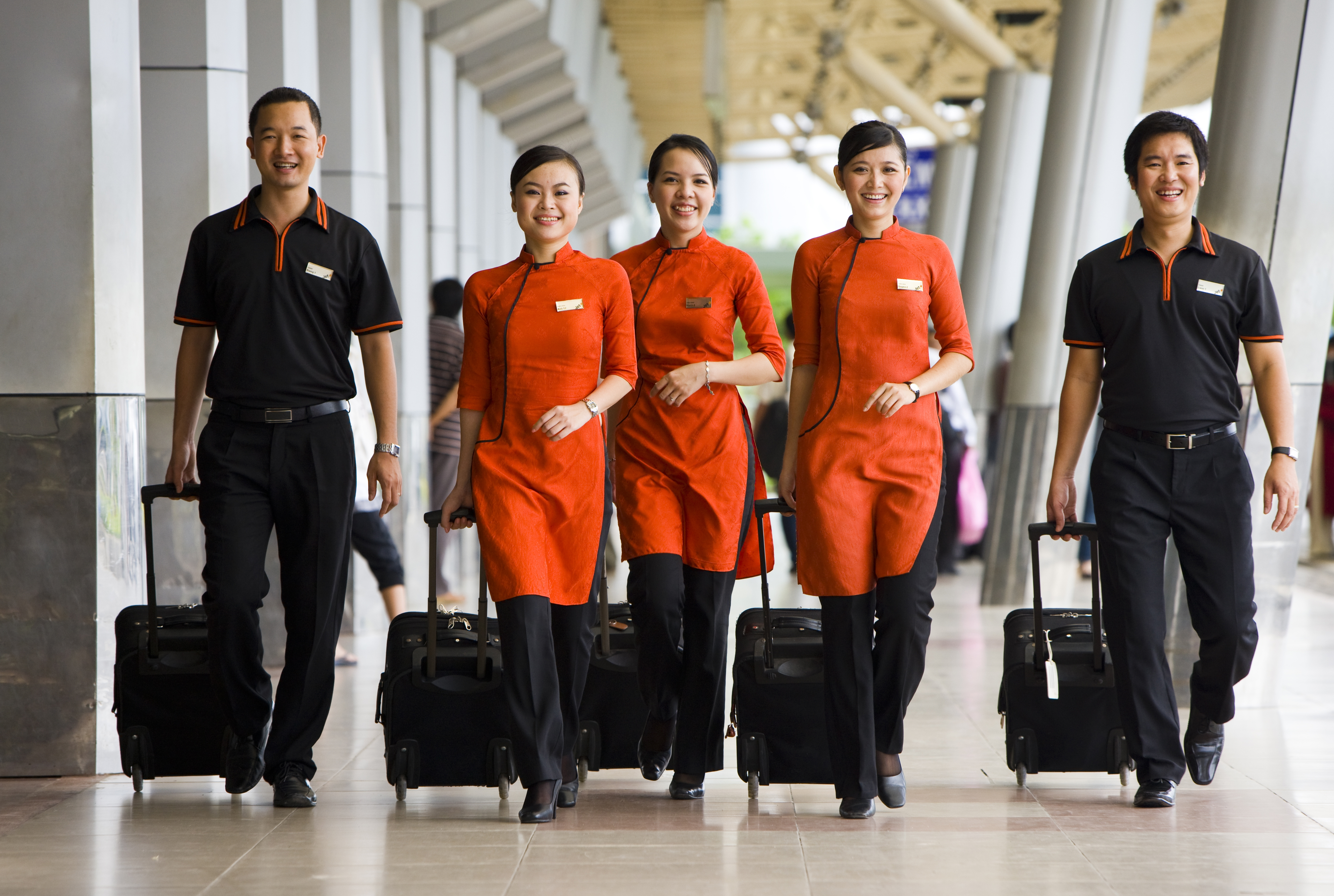 A shot of the Jetstar Pacific crew.