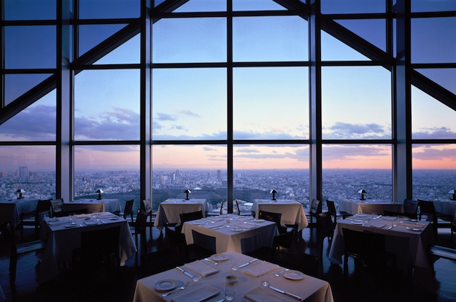 The expansive view from the hotel's New York Bar and Grill.