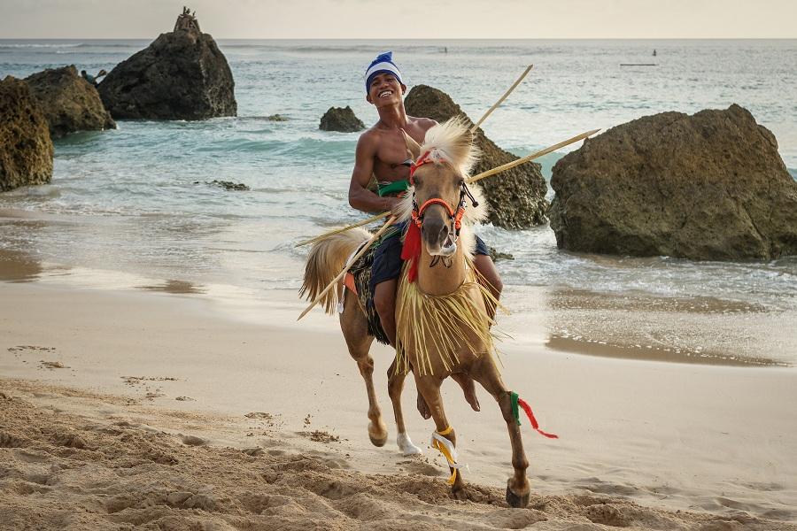 Sumba style on horseback,