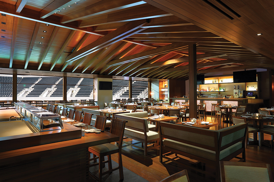Nobu's new outlet at the Indian Wells Tennis Garden in California.