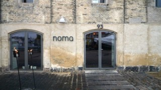 The entrance to Noma in Copenhagen.