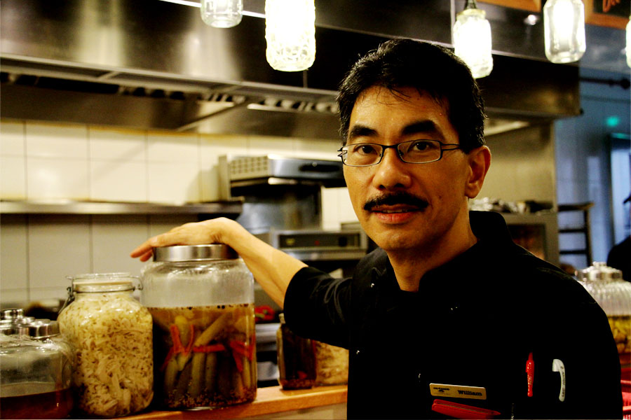 Nutmeg's chef and owner, William Chong.