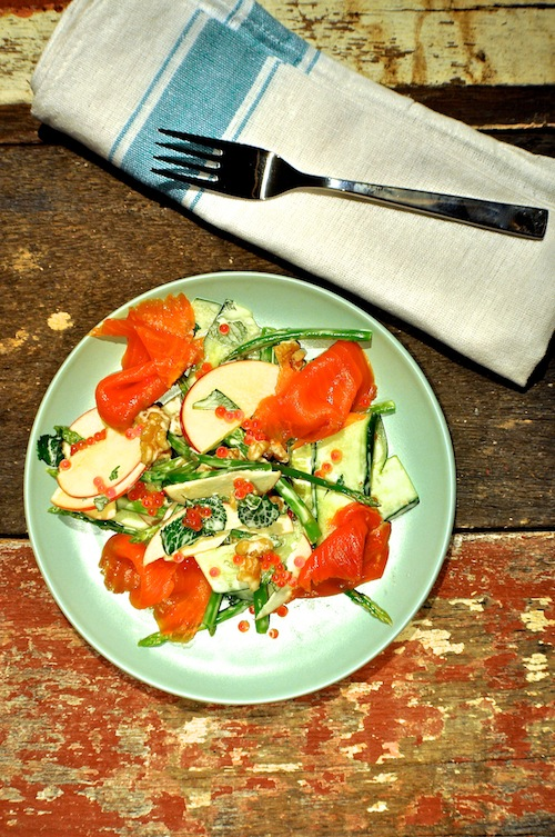 The Nuts About Smoked Salmon salad.
