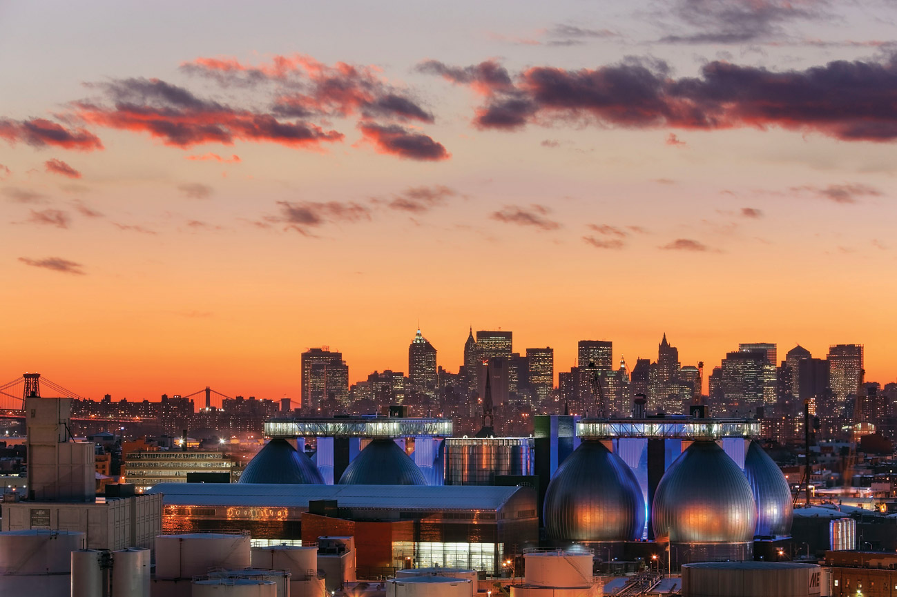 The NYC skyline.