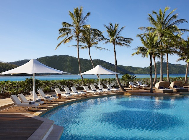 The scenery at One&Only Hayman Island's pool.