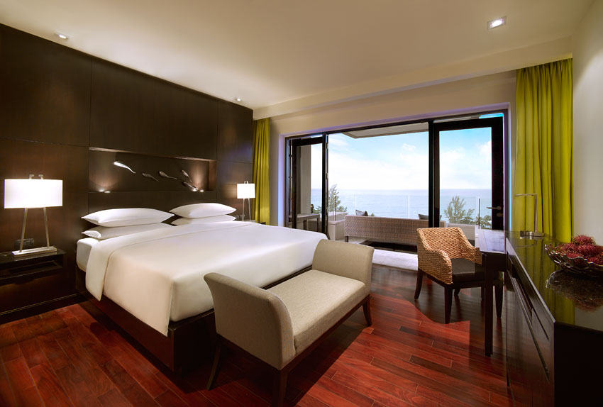 The resort features 199 open-plan rooms giving guests more than enough space.