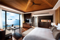 Koh Samui resorts: an ocean-view pool villa at the Conrad.