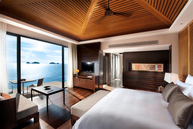 An ocean-view pool villa.