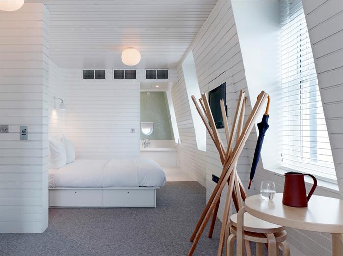 The hotel's minimalist designed Suite.