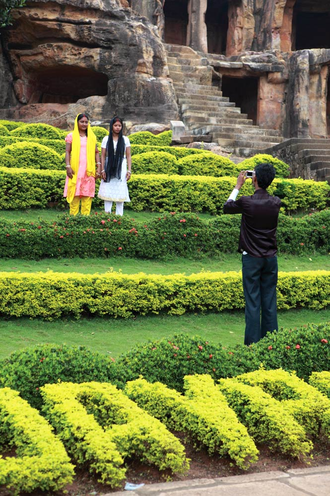 A photo op in front of the Udayagiri caves.