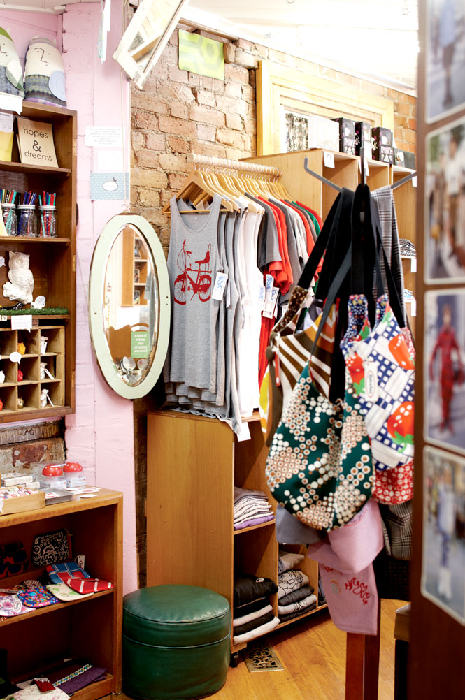 Inside Blackbird Corner, which stocks locally made clothing, accessories, and gifts.