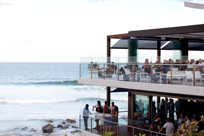 Pacific Ocean views from the Merewether Surfhouse.
