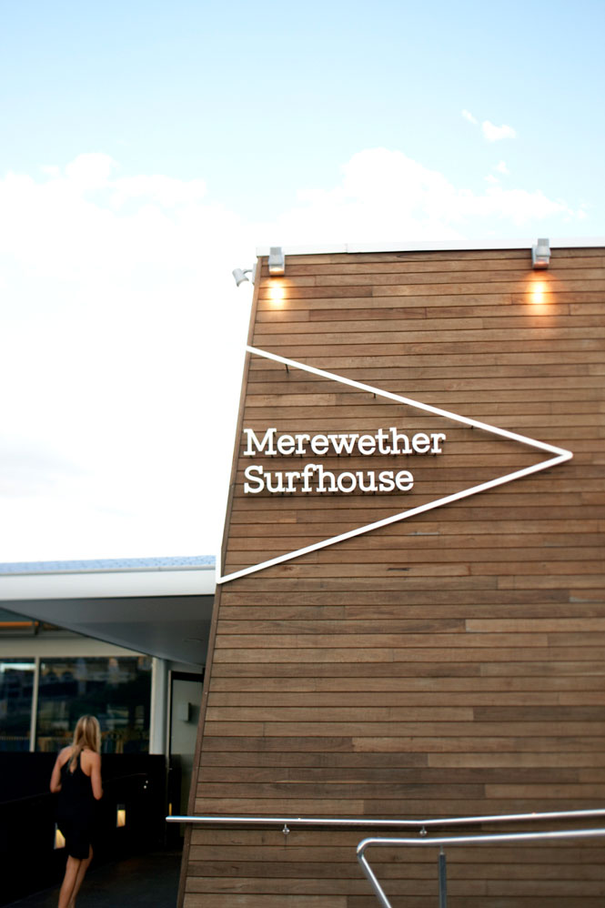 The entrance to the Merewether Surfhouse.