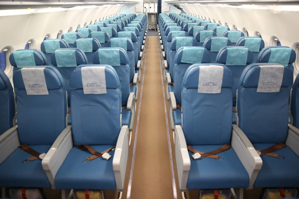 The Economy section of PAL's new A321.