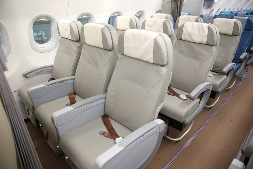 The Premium Economy section of PAL's new A321.