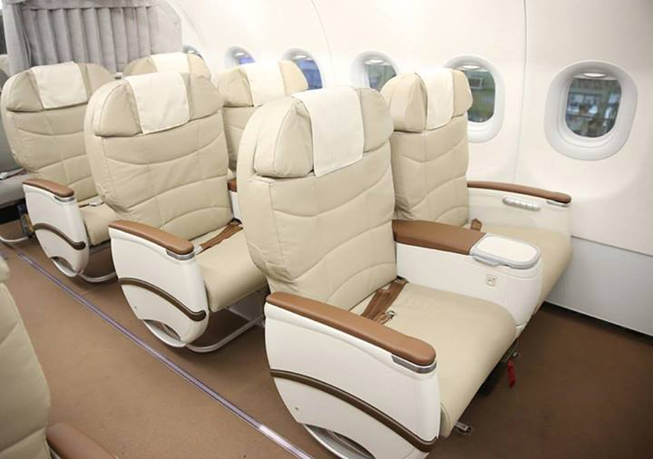 The Business Class section of PAL's new A321 aircraft.