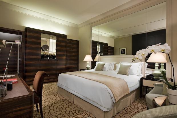 An Art Deco Deluxe room.