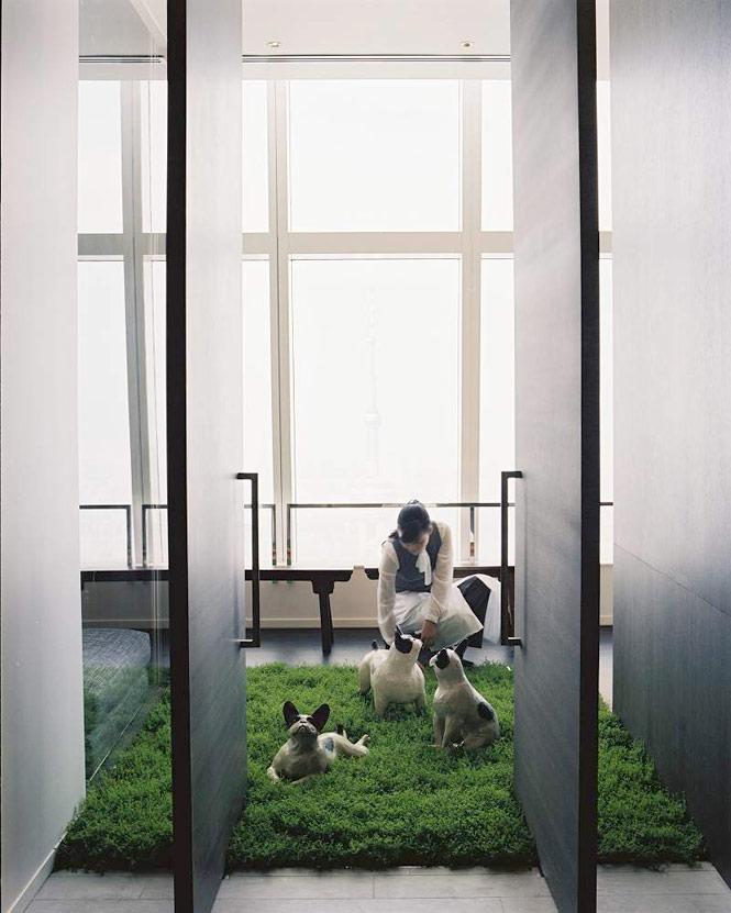 Quirky art in the Park Hyatt Shanghai's presidential suite.