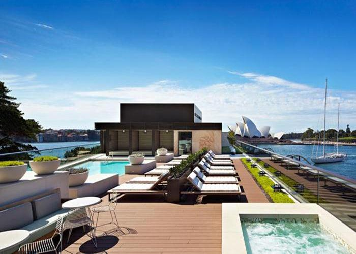 Highlights at the Park Hyatt Sydney include the luxurious pool and day spa located on the hotel's roof.
