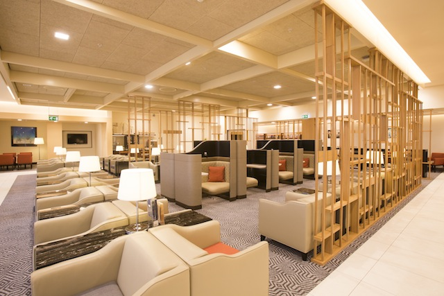 The business-class lounge.