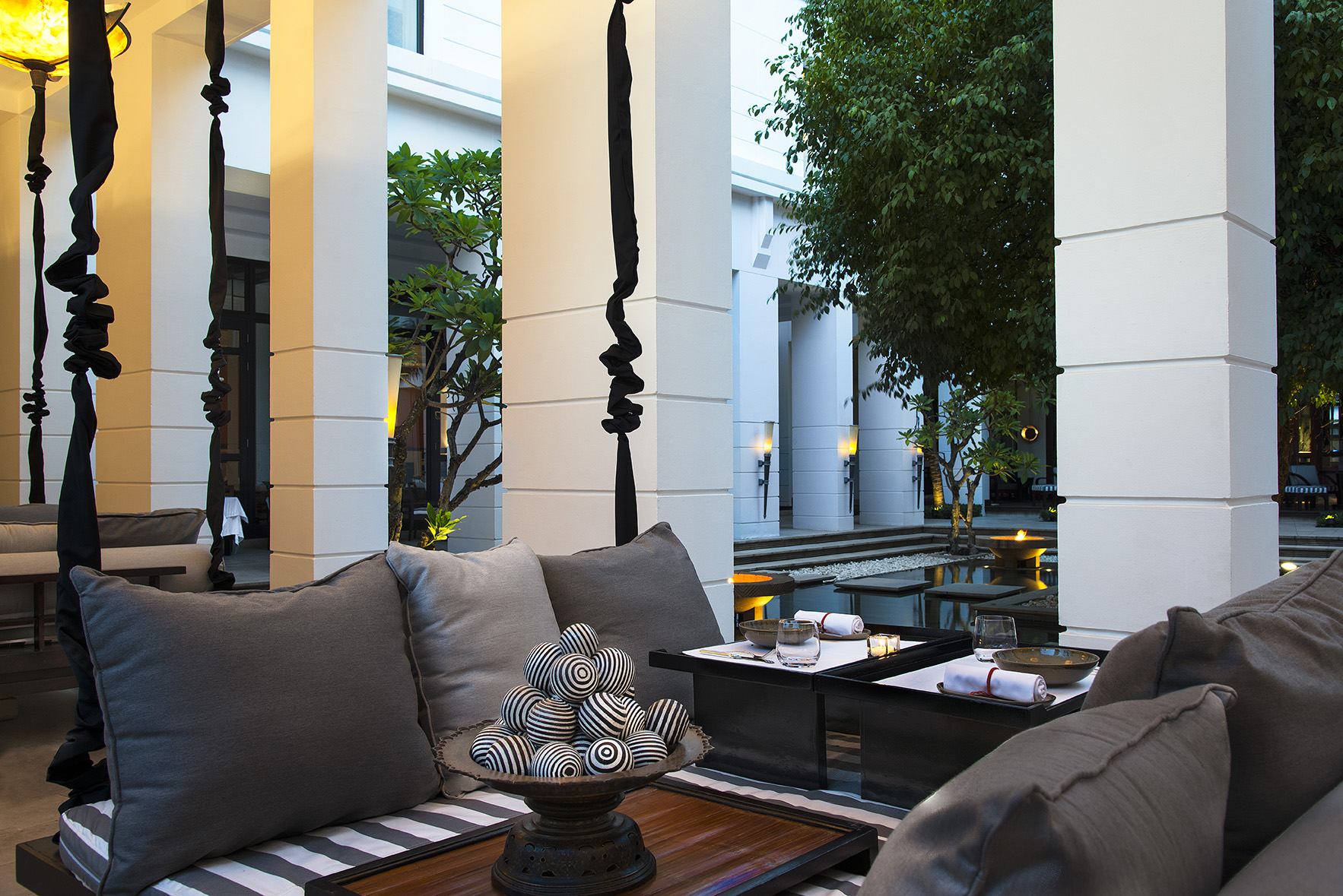 The courtyard of the Park Hyatt Siem Reap.