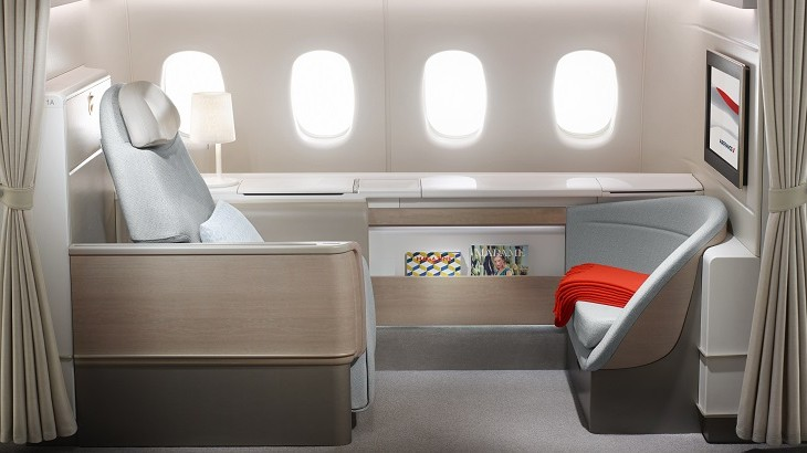 Air France's revamped Boeing 777 features four cabins, including La Première, the carrier's first class suites.