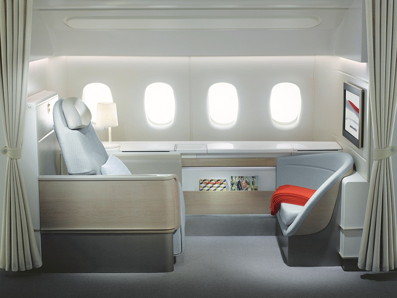 Air France's new first class cabin.