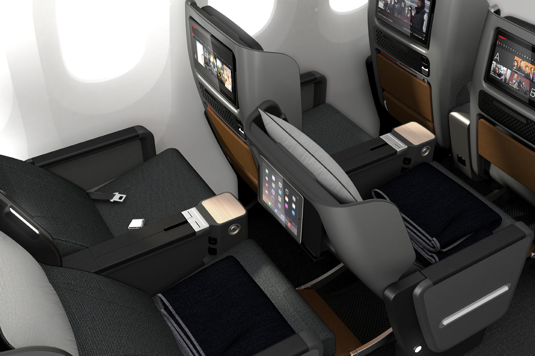 The seat will debut on the airline's Boeing 787-9 Dreamliners, which will be delivered in October.
