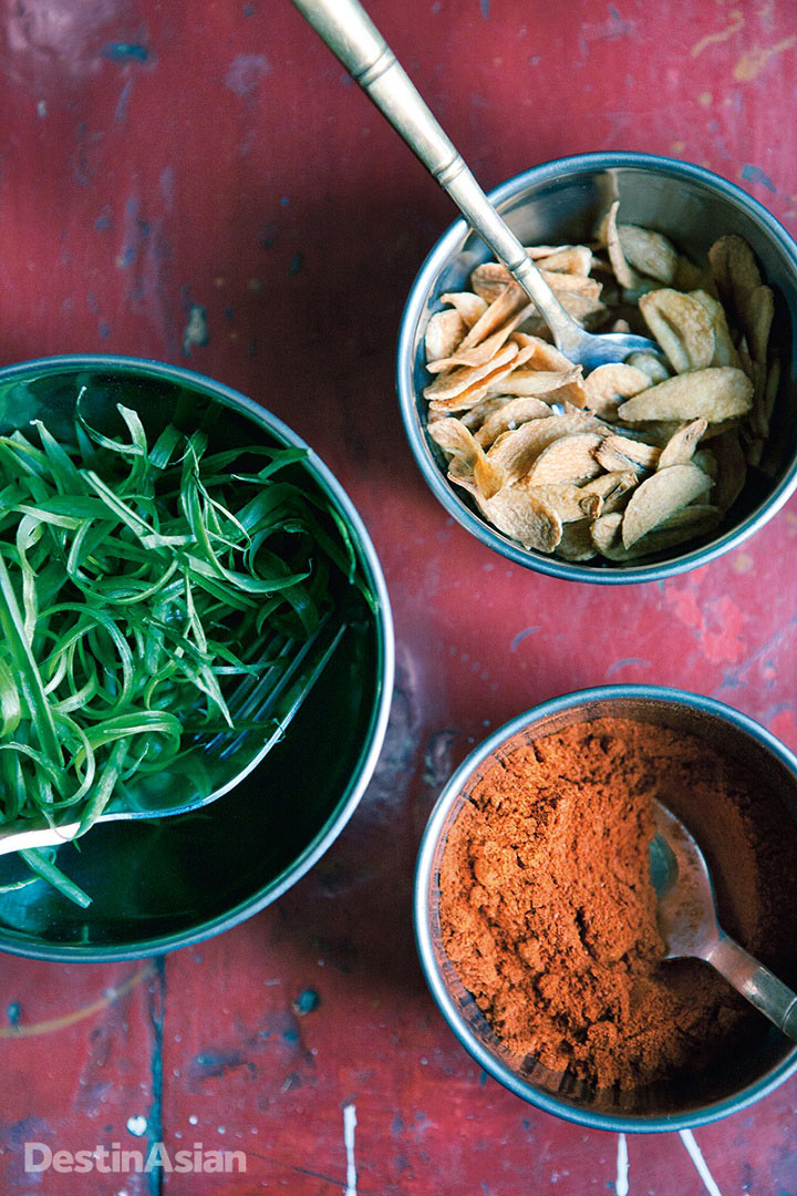 Himalayan ingredients destined for the dinner table.
