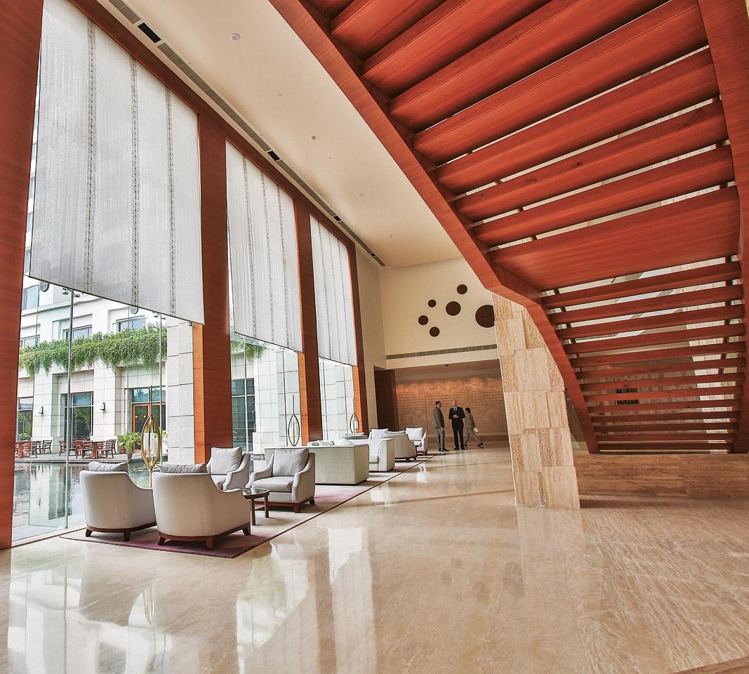 The lobby at the Park Hyatt Chennai.