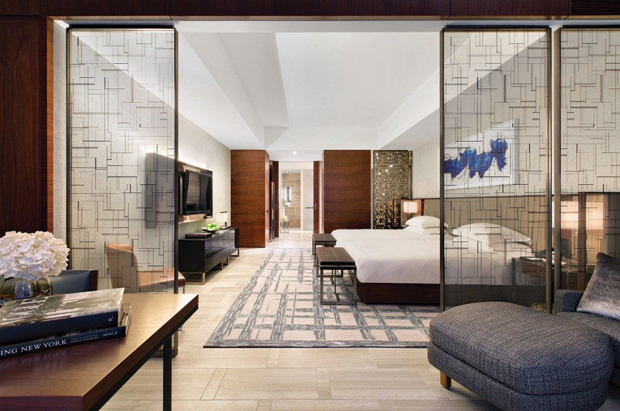 Famed design firm Yabu Pushelberg designed rooms with both antique and contemporary furniture.