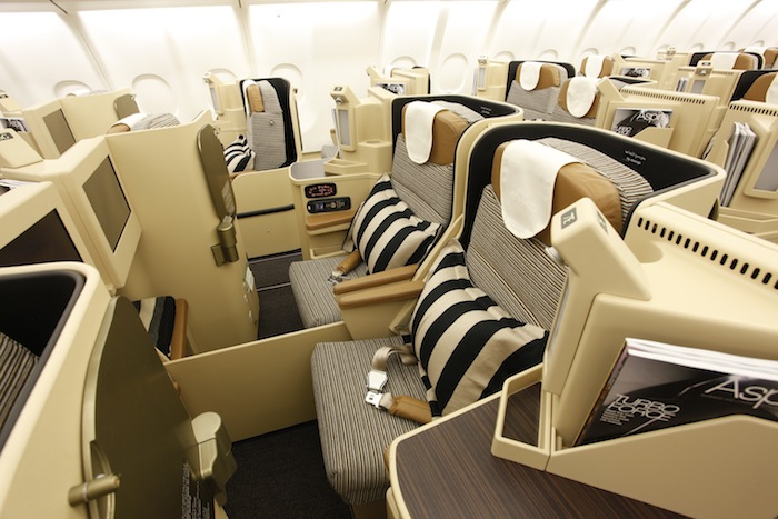 The plane will have a three-class configuration including Pearl Business Class.
