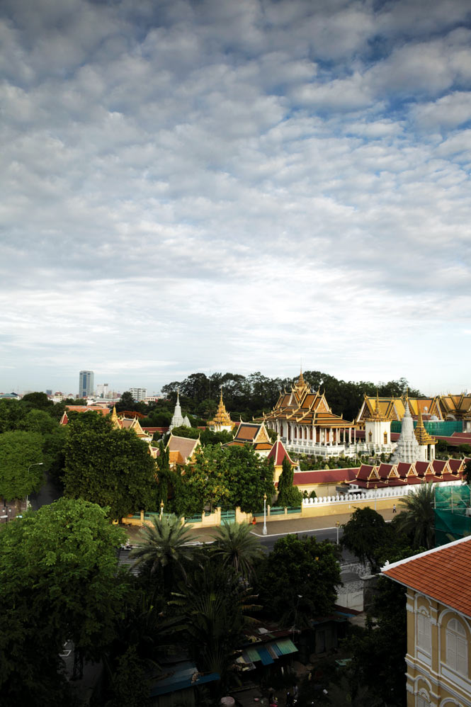 Overlooking the grounds of the Royal Palace.