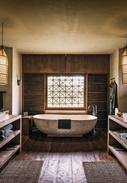 One of the resort's stylish bathrooms.