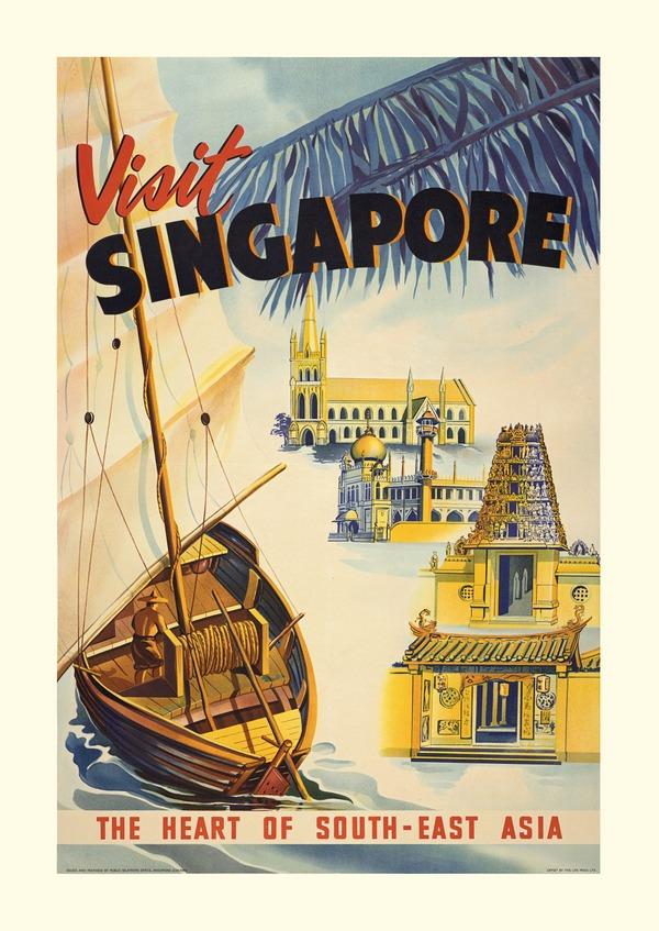 Beckoning travelers to Singapore.